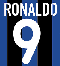 Inter Milan Ronaldo Nameset Shirt Soccer Number Letter Heat Print Football H 00