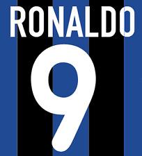 Inter Milan Ronaldo Nameset Shirt Soccer Number Letter Heat Print Football H 00