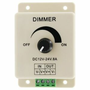 LED Dimmer Switch Adjustable Brightness Controller 12V DC Wall Lighting Parts