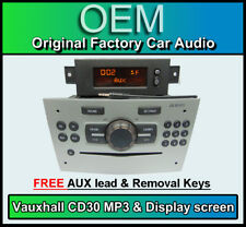 VAUXHALL Corsa CD30 Lettore MP3, Argento CD RADIO STEREO DISPLAY + + Lead AUX
