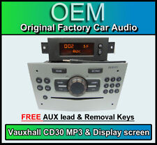 Vauxhall Corsa CD30 MP3 player, SILVER CD radio stereo + Display + AUX LEAD
