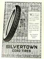 1919 Silvertown Cord Tires Print Ad - Goodrich Tires Quality First - May 1919