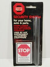 Vintage Pen Prevent-A-Theft Invisible Ink Spy Pen Marker, Security System, NOS
