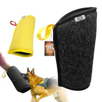 Heavy Duty Intermediate Dog Bite Arm Sleeve K9 Training SCHUTZHUND Black Yellow