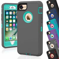12 TPU Shockproof Defender Hybrid Case Wholesale Lot For Apple iPhone 7 Plus
