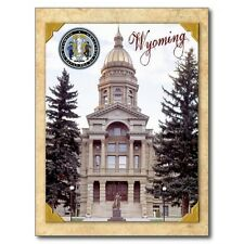 "~Post Card~""Front View of The Wyoming State Capital"" @ Cheyenne, Wy. (B491)"