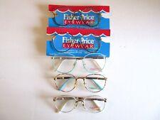 Lot of 5 Fisher Price Girl's Vintage Metal Eyeglasses Frames France 90s  NOS