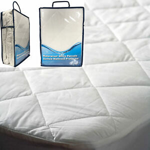 New Waterproof Micro Percale Quilted Bed Mattress Protector Topper Fitted Cover_