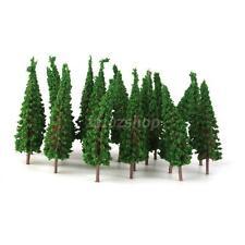 50 HO Scale Green Modell Bäume Layout Zug Eisenbahn Straße Diorama Szene