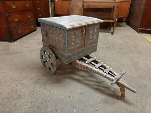 Very Unusual Vintage Style Ethnic Drinks Cart / Cabinet Very Decorative Piece.