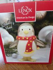Nib Lenox Holiday Penguin Bobble Head Christmas Ornament Gift Collectible