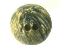 Vintage Ebonite Maxim IV Matte Finish Bowling Ball Green Blue Tan Swirl 10 lbs