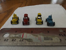 Retro 1950's Vintage Old Die Cast Metal Mini Cars Lot of 4 Japan Red Blue Yellow