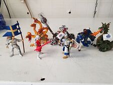 Lot of 7 MEDIEVAL  Action Figures Knights PAPO  Hand Painted