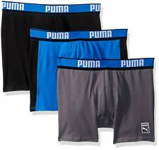 PUMA MEN'S UNDERWEAR 3 PACK - BOXER BRIEF - HERITAGE BLUE LARGE - STRETCH