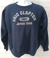 Eric Clapton Japan Tour 2003 Navy Blue Jumper Sweater Jumper Mens Size Large