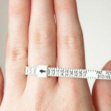 Multisizer Ring Sizing Gauge, Measures US Sizes 1-17, White w/ Black Lettering