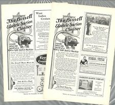 1915-16 BISSELL SUCTION CLEANER advertisements x2, early vacuum cleaner