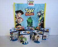 Toy Story 4 Figurine Woody, Buzz, Forky Rex Bo Peep Playset w/ Tote Bag Lot NEW