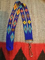 Hand Beaded ID Lanyard, I.D. Badge Holder, Id Lanyard, Southwest Pattern (DP)