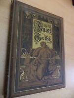 OLD ANTIQUE BOOK FAUST VON GOETHE GERMAN DECORATIVE ORNATE COVER ILLUSTRATED DVA