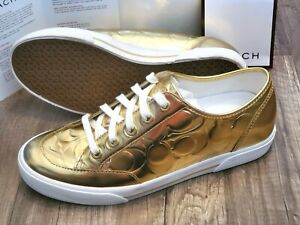 Coach A1272 Bellah gold metallic shoes women sz 7.5