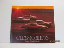 1976 Olds Cutlass 442 Omega Starfire NOS GM Dealership Sales Brochure 76