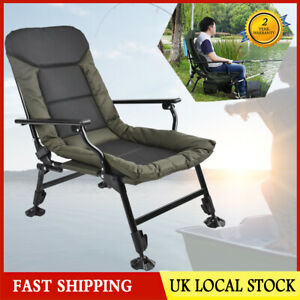 Folding Sun Lounger Chair Armchair Outdoor Fishing Camping Chair Recliner 180kg