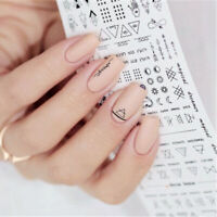 3D DIY Nail Art Water Decals Transfer Stickers Letter Manicure Tips Nails Decor