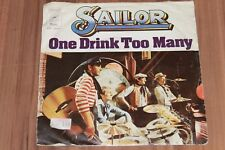 "Sailor – One Drink Too Many (1976) (Vinyl 7"") (Epic – EPC S 4804)"