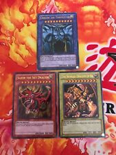 Yu-Gi-Oh 3x Ultra Rare God Card Set Obelisk, Slifer, Ra LC01 NEAR MINT CONDITION