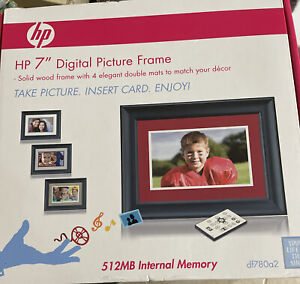 """HP 7"""" Digital Picture Frame Photography Pre-Owned Never Been Used"""