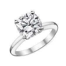 0.60CT Women's Unique 14K WG Cushion Cut Moissanite Solitaire Engagement Ring