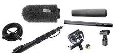 Sennheiser 416 w/ K-Tek KE110CC Boompole, Rycote Softie, Shock Mount & XLR Cable