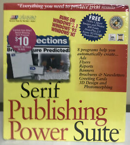 NEW SERIF PUBLISHING Power Suite SOFTWARE 1995 Windows 3.1, 95, NT