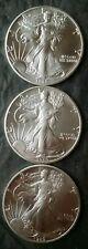 Lot of Three 1989 $1 American Silver Eagle Dollars