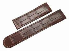 Replacement Brown Crocodile watch band -for Ebel Classic Wave Senior Chrono