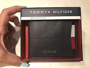 Tommy Hilfiger Men's Solomon Slimfold Wallet - Navy Brand New In Box