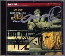 Pepe ROMERO, Massimo PARIS Signed VIVALDI Guitar Viola d'amore Concerto I MUSICI