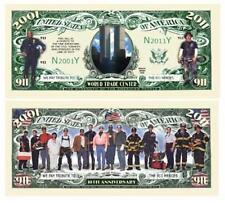 911 Tenth Anniversary WTC Commemorative Dollar Bill