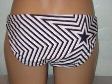 Converse One Star Bikini Swimsuit Bottoms White Purple Stripe Sz Small 4-6 NWT