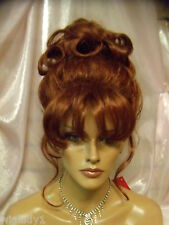 VEGAS WIGS CORONATION UPDO SMOOTH FRENCH TWIST Cinderella style curls ringlets