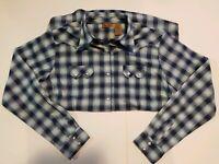 Wrangler Plaid Western Shirt long Sleeve Diamond Pearl Snaps Rodeo Women's Large