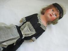 Antique German Paper Mache Head Cloth Body Doll Dressed as a Servant
