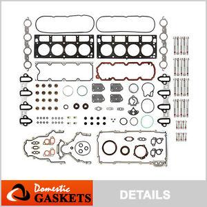 04-09 Chevrolet GMC Buick Cadillac 5.3L 4.8L Full Gasket Set(metal intake)+Bolts