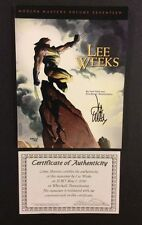 MODERN MASTERS Volume 17 Art Book LEE WEEKS Wolverine SIGNED COA Daredevil NM