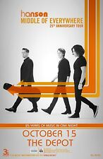 """HANSON """"MIDDLE OF EVERYTHING 25TH ANNIV. TOUR""""2017 SALT LAKE CITY CONCERT POSTER"""