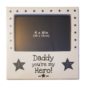 Dads Gift Photo Picture Frame Daddy You're my Hero Birthdays Dad Gifts Decor