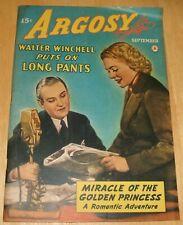 The New Argosy Vol. 314  No. 2 September, 1942 Leslie Charteris, Ada Hodges