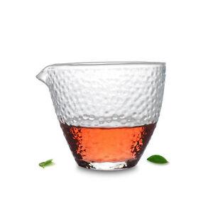 "1x Diamond Style Crystal Mug Glass Pitcher China Gongfu Teacup ""ChaHai"""